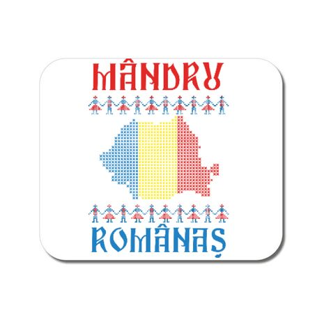 Mousepad personalizat Mandru romanas Alb