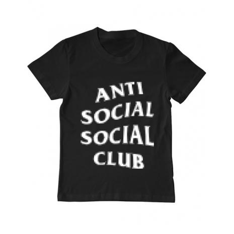 Tricou ADLER copil Anti social Negru