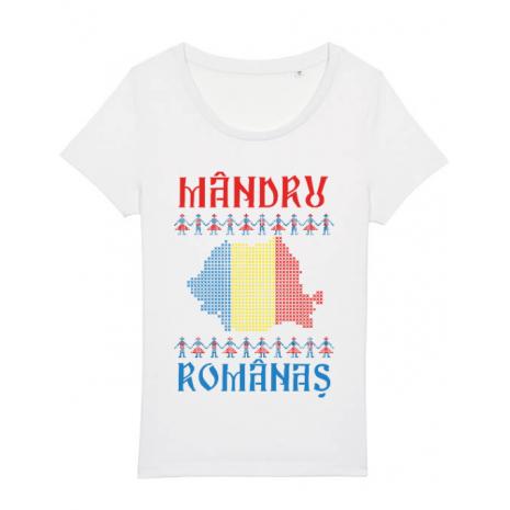 Tricou STANLEY STELLA dama Mandru romanas Alb