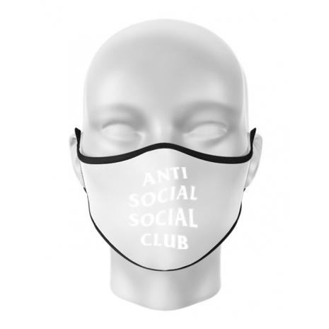 Masca personalizata reutilizabila Anti social Alb