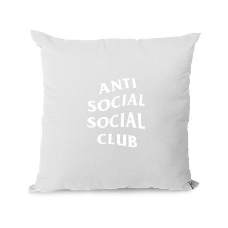 Perna personalizata Anti social Alb