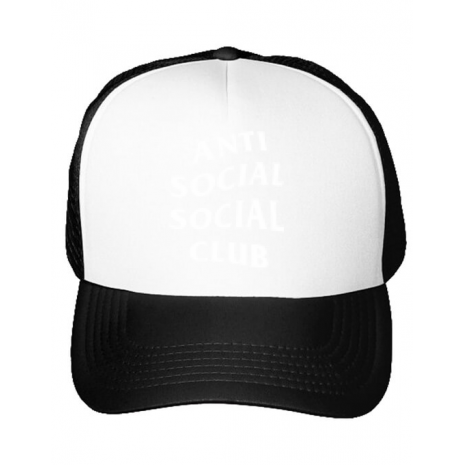 Sapca personalizata Anti social Alb