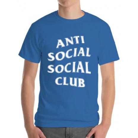 Tricou ADLER barbat Anti social Albastru azuriu