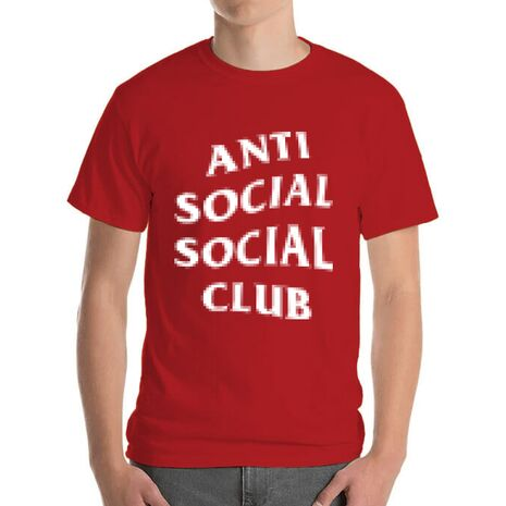 Tricou ADLER barbat Anti social Rosu