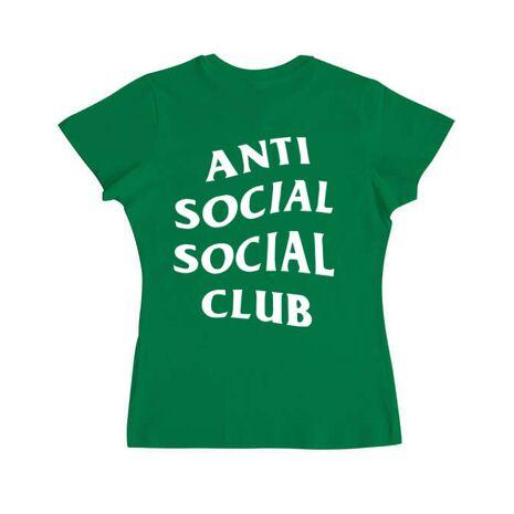 Tricou ADLER dama Anti social Verde mediu