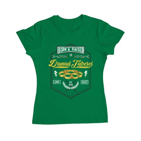 Tricou ADLER dama Drumul taberei Verde mediu