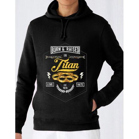 Hoodie barbat cu gluga Titan Negru