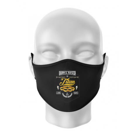 Masca personalizata reutilizabila Titan Negru