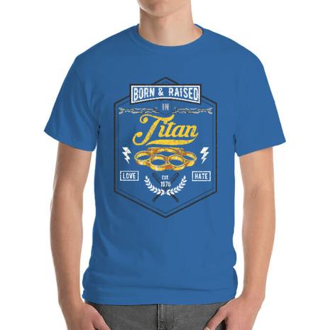 Tricou ADLER barbat Titan Albastru azuriu