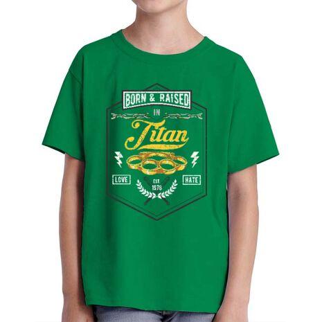 Tricou ADLER copil Titan Verde mediu