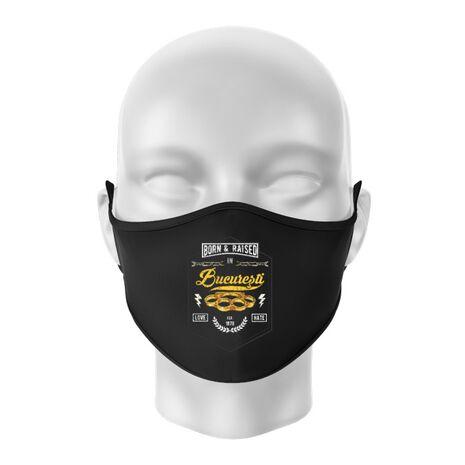 Masca personalizata reutilizabila Bucuresti Negru