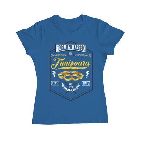 Tricou ADLER dama Timisoara Albastru azuriu