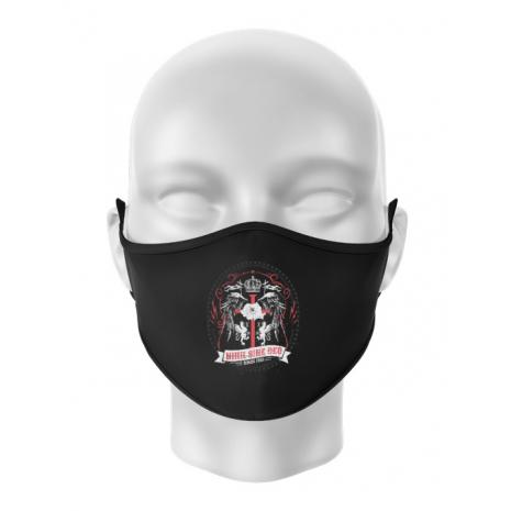 Masca personalizata reutilizabila Nihil Sine Deo Negru