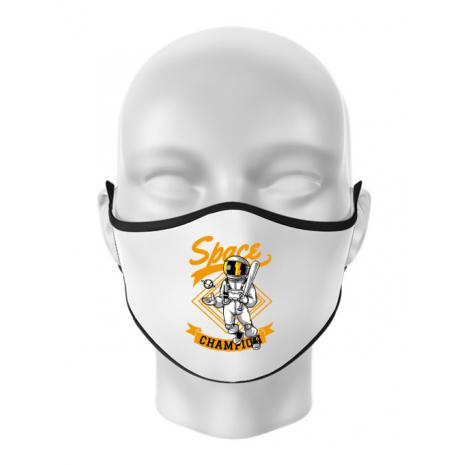 Masca personalizata reutilizabila Space champion Alb