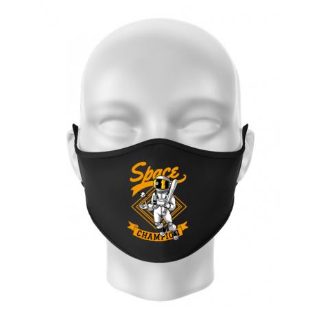 Masca personalizata reutilizabila Space champion Negru
