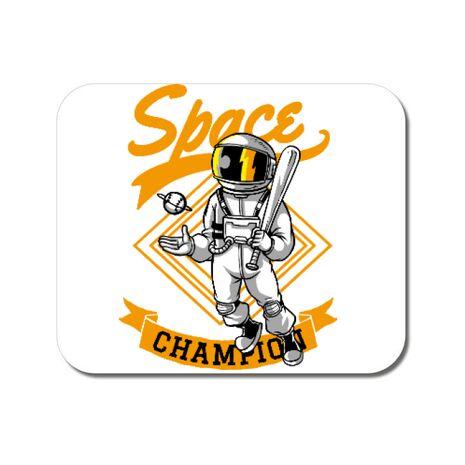 Mousepad personalizat Space champion Alb