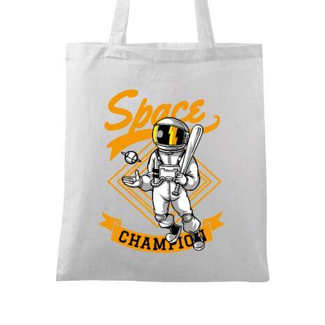 Sacosa din panza Space champion Alb