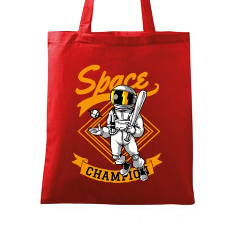 Sacosa din panza Space champion Rosu