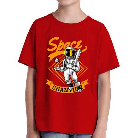Tricou ADLER copil Space champion Rosu