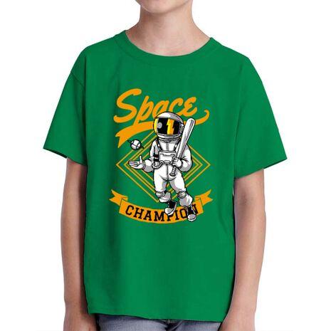 Tricou ADLER copil Space champion Verde mediu