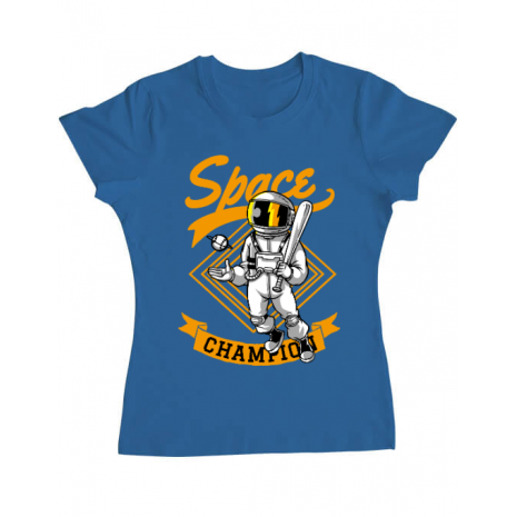 Tricou ADLER dama Space champion Albastru azuriu