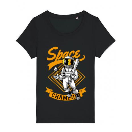 Tricou STANLEY STELLA dama Space champion Negru