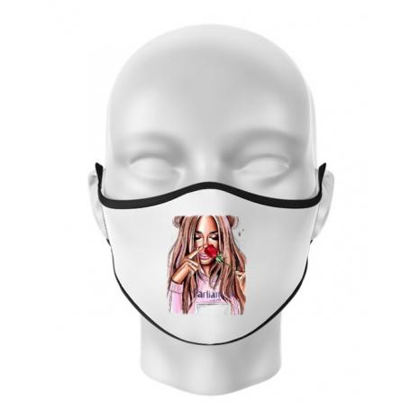 Masca personalizata reutilizabila Sniff the life Alb