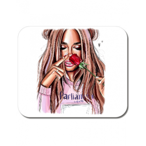 Mousepad personalizat Sniff the life Alb