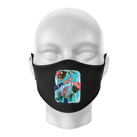Masca personalizata reutilizabila High Heels and roses Negru