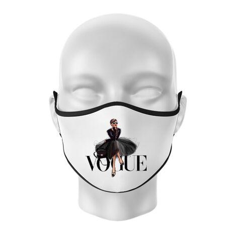 Masca personalizata reutilizabila Little black tutu Alb