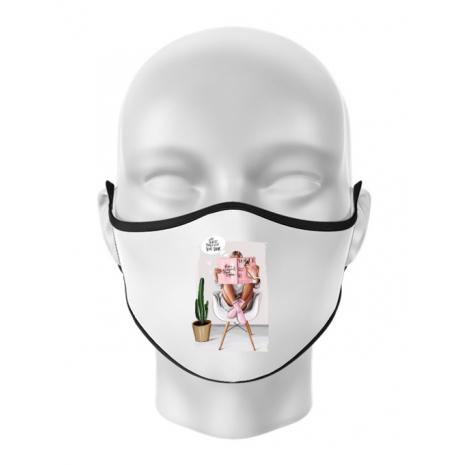 Masca personalizata reutilizabila Shine baby Alb
