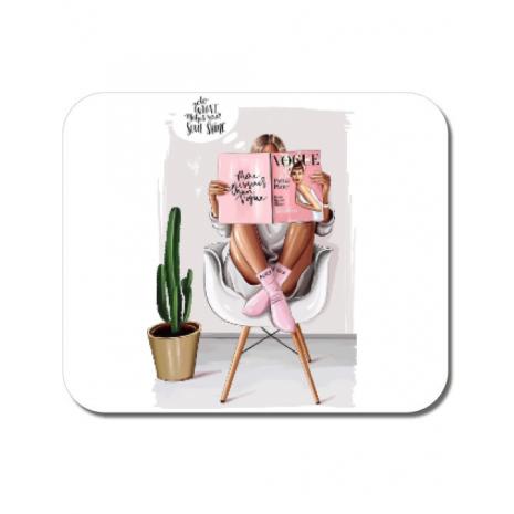 Mousepad personalizat Shine baby Alb