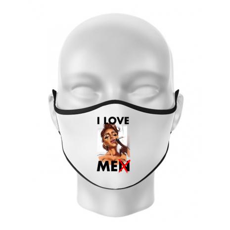 Masca personalizata reutilizabila Black tears Alb