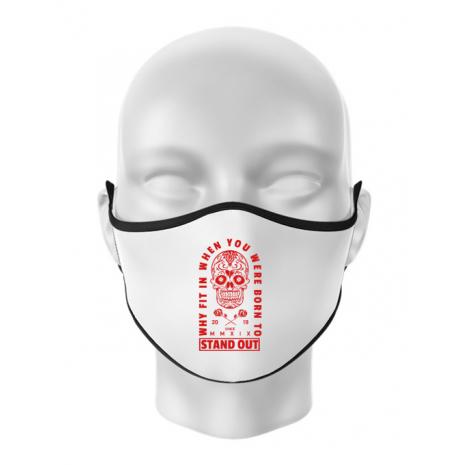 Masca personalizata reutilizabila Born to stand out Alb