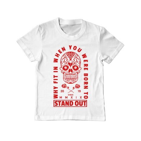 Tricou ADLER copil Born to stand out Alb
