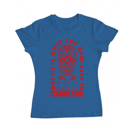 Tricou ADLER dama Born to stand out Albastru azuriu