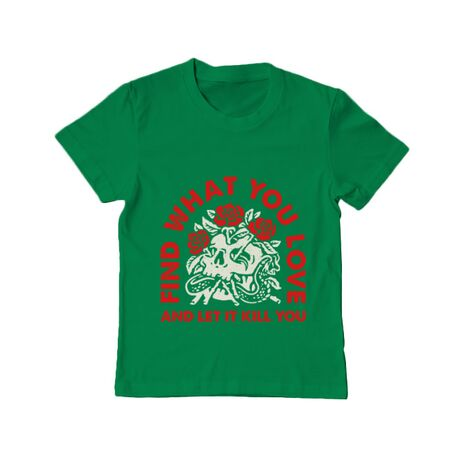 Tricou ADLER copil Find what you love Verde mediu