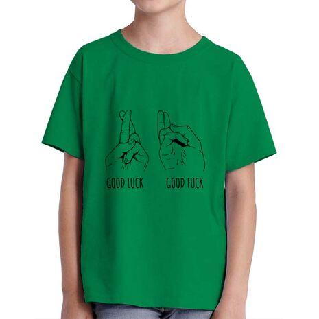Tricou ADLER copil Good luck Verde mediu