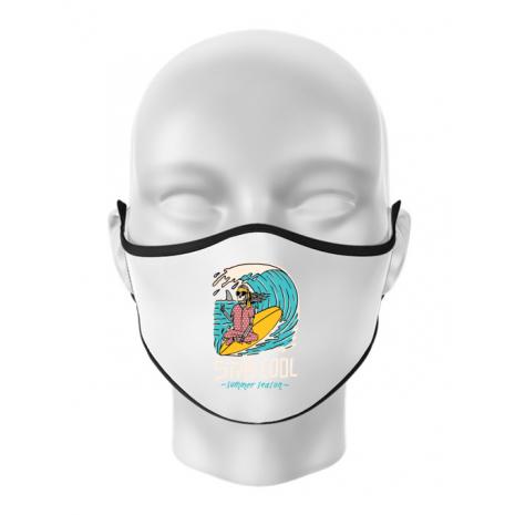 Masca personalizata reutilizabila stay cool Alb