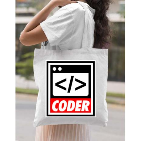 Sacosa din panza Coder Alb