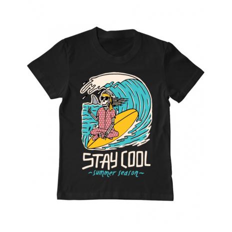 Tricou ADLER copil stay cool Negru