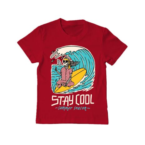 Tricou ADLER copil stay cool Rosu