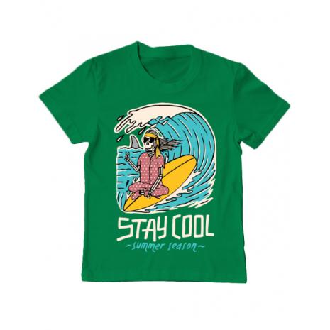 Tricou ADLER copil stay cool Verde mediu