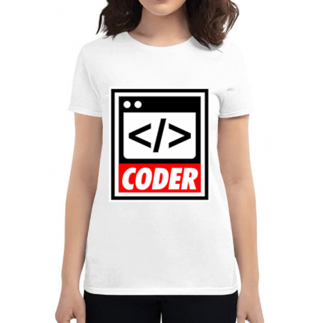 Tricou ADLER dama Coder Alb