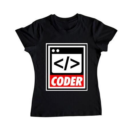 Tricou ADLER dama Coder Negru