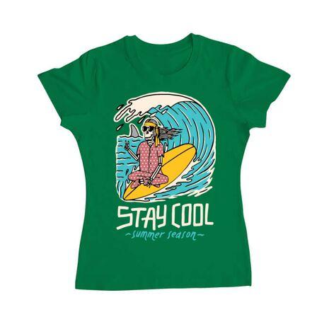 Tricou ADLER dama stay cool Verde mediu