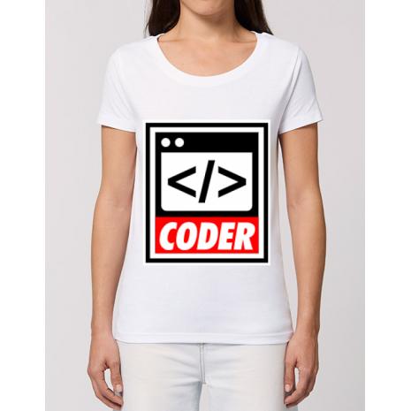 Tricou STANLEY STELLA dama Coder Alb
