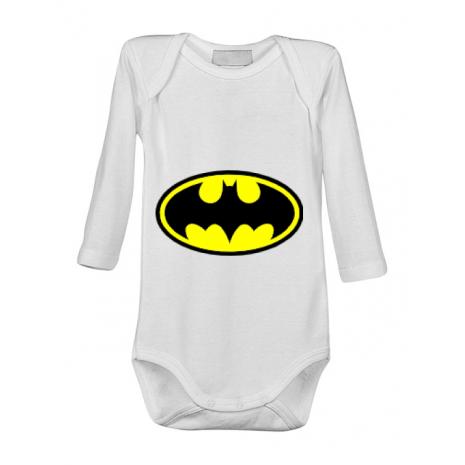 Baby body Batman Alb