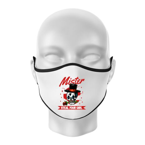 Masca personalizata reutilizabila Mr. steal your girl Alb