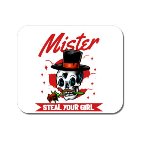 Mousepad personalizat Mr. steal your girl Alb